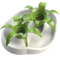 Gamelle - Ecuelle - Accessoire AIKIOU Thin Kat Flower Gamelle interactive - Blanc et vert - Pour chien