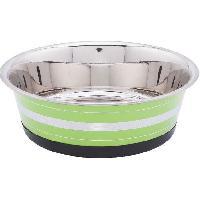 Gamelle - Ecuelle - Accessoire BUBIMEX Gamelle en acier inoxydable - 0.35 L - Argent. noir ou vert - Pour chien