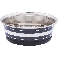 Gamelle - Ecuelle - Accessoire BUBIMEX Gamelle en acier inoxydable - 0.525 L - Argent. noir ou vert - Pour chien