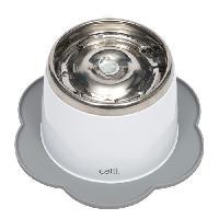 Gamelle - Ecuelle - Accessoire CAT IT Napperon en forme de fleur - Format moyen - Gris - Pour chat