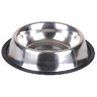 Gamelle - Ecuelle - Accessoire Gamelle pour chien antiderapante - Inox - D 15.5 cm