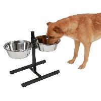 Gamelle - Ecuelle - Accessoire KERBL Bar alimentation avec écuelle pour chien - 2x1800ml