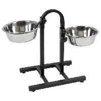 Gamelle - Ecuelle - Accessoire KERBL Bar alimentation avec écuelles pour chien - 2x2800ml
