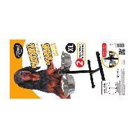 Gamelle - Ecuelle - Accessoire Kit Gamelle - Support reglable hauteur + 2 bols inox 28 cm. 3.5 L - Pour chien