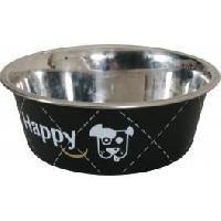 Gamelle - Ecuelle - Accessoire ZOLUX Ecuelle en inox Happy - O 25 cm - Noir - Pour chien