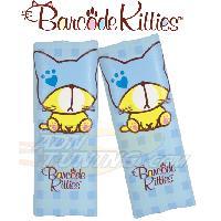 Gamme enfant 2 Mini fourreaux de ceinture - Bleu - Barcode Kitties ADNAuto