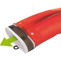 Gant De Cuisine - Manique MASTRAD F82315 Gant - Silicone et textile - Rouge transparent