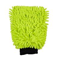 Gant de lavage en microfibre vert