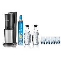Gazeificateur - Machine A Sodas SODASTREAM Machine a soda Crystal + 1 Carafe Verre Sodastream