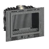 Genie Thermique - Climatique - Chauffage Foyer 700 Eco en fonte - 8 kW - Buches - 50 cm - Rendement - 75 - Flamme Verte 6 - Classe energie A - Fabrique en FRANCE