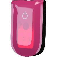 Gilet - Bandeau Reflechissant - Visio Bag - Reflecteurs WOWOW Clips magnétiques réfléchissants Magnetlight - 4 LED - Rose