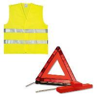 Gilet De Securite - Kit De Securite - Triangle De Securite Kit GILET + TRIANGLE DE SIGNALISATION - ADNAuto
