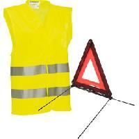 Gilet De Securite - Kit De Securite - Triangle De Securite Pack securite triangle et gilet jaune