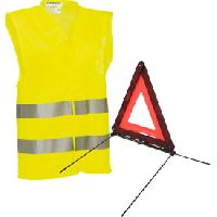 Gilet De Securite - Kit De Securite - Triangle De Securite Pack securite triangle et gilet jaune - ADNAuto