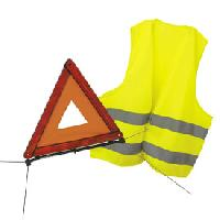 Gilets et Securite 1 Triangle de Signalisation - 1 Gilet de securite - ADNAuto