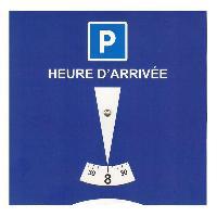 Gilets et Securite Disque Carton De Stationnement Europeen Zone Bleue PVC
