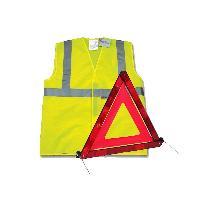 Gilets et Securite Kit Triangle et Gilet de securite homologue E11 - ADNAuto