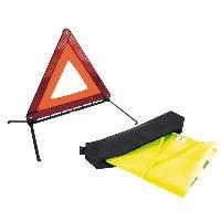 Gilets et Securite Kit de Securite Routiere - Obligatoire a partir du 1er juillet 2008 - 1 Gilet - 1 Triangle - ADNAuto
