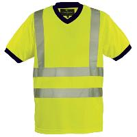 Gilets et Securite T-shirt MC col V jaune fluorescent XXL