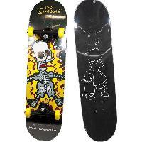Glisse Urbaine BART SIMPSON Skateboard d'Apprentissage