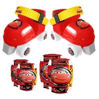 Glisse Urbaine CARS Set Patins a Roulettes ajustables 23 a 27 et Protections - Disney - Stamp