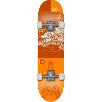 Glisse Urbaine DEMENTED Skateboard Reptilian - Mixte - Orange
