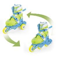 Glisse Urbaine FUNBEE Rollers inline 2 en 1 (3 roues) coloris bleu pour enfant