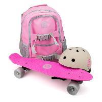 Glisse Urbaine FUNBEE Skate 22 avec sac a dos + casque bol Rose