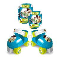 Glisse Urbaine TOY STORY 4 Set patins a roulettes + coudieres + genouilleres Disney