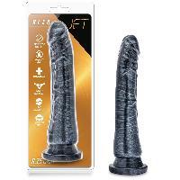 Gode Ventouse Jet Blaq Effet Metal - 22 cm