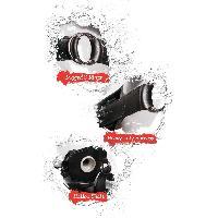 Godes Ceintures Creux Gode ceinture creux noir avec sangles elastiques de 26 cm