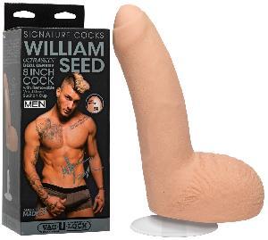 Godes ventouses Gode realiste Ultraskyn Vac U Lock William Seed - 21 cm D4.5 cm
