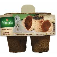 Godet De Culture - Pot De Tourbe VILMORIN 16 godets coco ronds - 8 cm