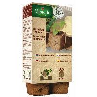 Godet De Culture - Pot De Tourbe VILMORIN 32 godets coco carres - 8 cm