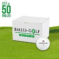 Golf WILSON Lot de 50 balles Wilson Staff prenim - Reconditionnees - Blanc