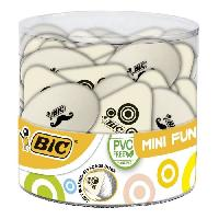 Gomme BIC Mini Fun Gommes Blanches - Formes Assorties. Tubo de 36 - Betadine