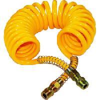 Gonfleurs et Pompes Spirale a air jaune