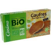 Gouter Minceur - Collation Minceur - Gateau Minceur Casino Gaufres au miel Bio - 175 g - Generique