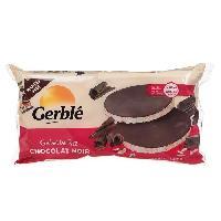 Gouter Minceur - Collation Minceur - Gateau Minceur GERBLE Galette de riz au chocolat noir source de magnésium - 130.4 g - Bjorg