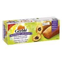 Gouter Minceur - Collation Minceur - Gateau Minceur GERBLE Petit Cake Fourré Saveur Chocolat Sans Gluten - 210 g