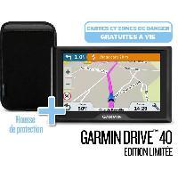Gps GARMIN Pack GPS Drive? 40 Cartes a vie -LM- Edition limitee + Housse de transport