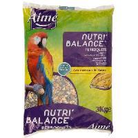 Graines Nutri'balance Melange de graines - Pour perroquets - 3kg