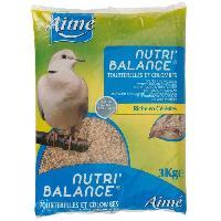 Graines Nutri'balance Melange de graines - Pour tourterelles et colombes - 3kg