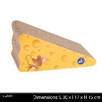 Griffoir - Grattoir - Tour - Poteau - Tronc Griffoir en forme de fromage 30x17x15 cm - Jaune - Pour chat