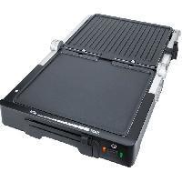 Grill Electrique STEBA 187000 FG70 Grill de contact - 1800 W - Surface de cuisson antiadhesive- 2 x 27 x 24 cm - Inox et noir