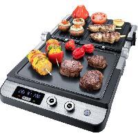 Grill Electrique STEBA 187200 FG120 Grill de contact - 1800 W - Surface de cuisson antiadhésive: 2 x 27 x 24 cm - Inox et noir