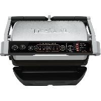 Grill Electrique TEFAL GC706D12  OPTIGRILL Grill - 2000W - 5 niveaux de cuisson - 6 programmes - Gris