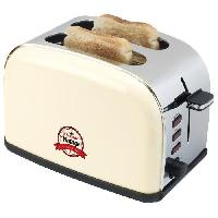 Grille-pain - Toaster ATS100RE Grille-pain vintage Pour 2 tranches - 900W - Creme