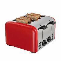 Grille-pain - Toaster DOMOCLIP DOD153 Grille-pain électrique rétro - Rouge