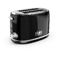 Grille-pain - Toaster FAURE FT2S-8111 Grille-Pain - 3 fonctions - Variateur d'intensité - 680/810W - Noir